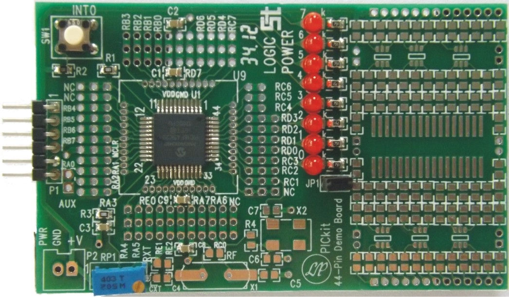 PICkit 44-Pin Demo Board (PIC18F45K20)