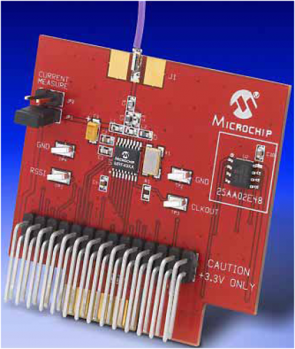 Daughter Board, MRF49XA, RF TXRX, PIC18, Supports Miwi Software Stack And Radio Utility Driver