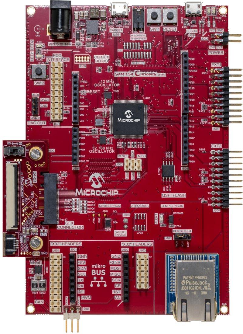 SAM E54 Curiosity Ultra Development Board
