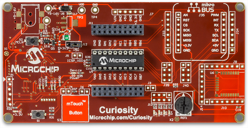 Curiosity 8-Bit PIC16F Dev Board